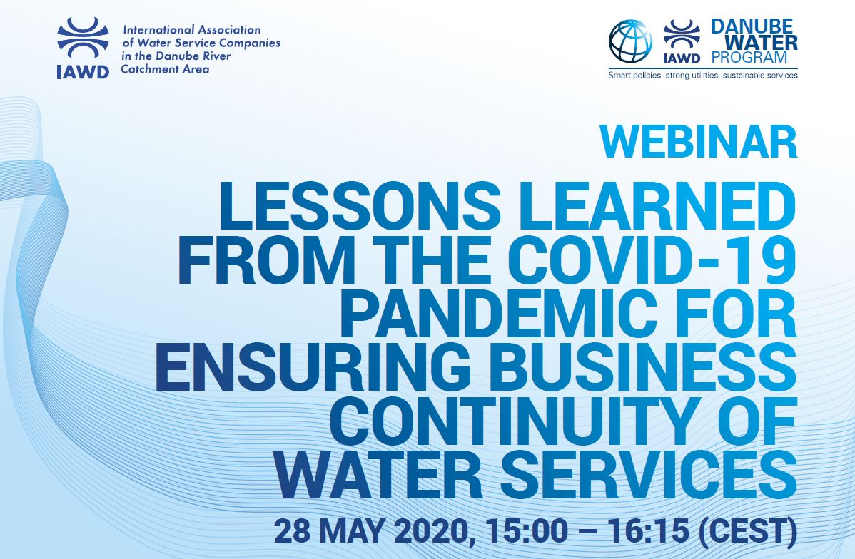 Lessons learned from the COVID-19 pandemic for ensuring business continuity of water services